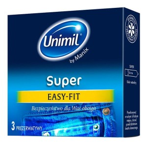 Prezerwatywy Unimil Super EASY-FIT 3 szt.