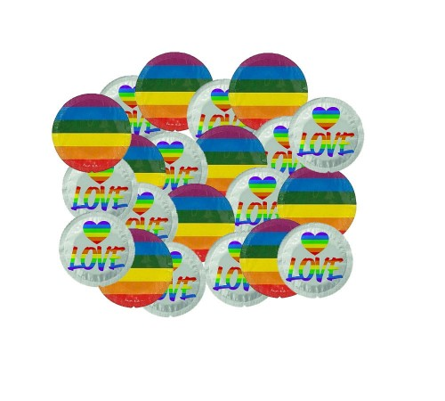 EXS Rainbow Flag Condoms (100 szt.)